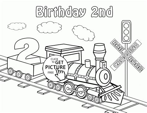 kansas birthday coloring pages happy 2nd birthday card with train coloring page for kids