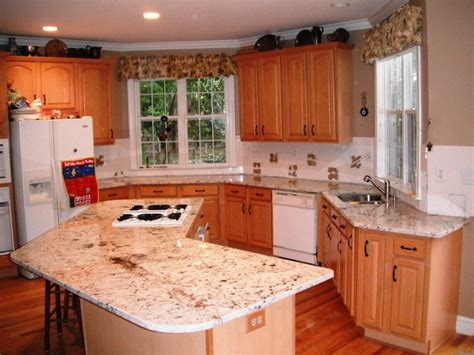 FLORATTA WHITE Granite for Light Wood Cabinets