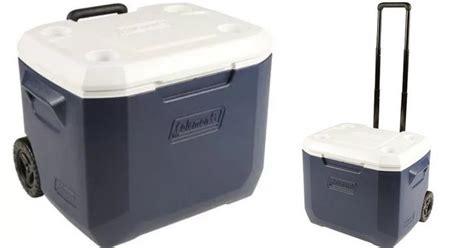 coleman 50 quart rolling cooler walmart coleman xtreme 50 quart wheeled cooler only 29