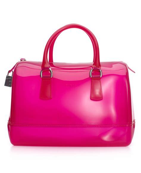 Furla Cardy furla bauletto satchel in pink lyst