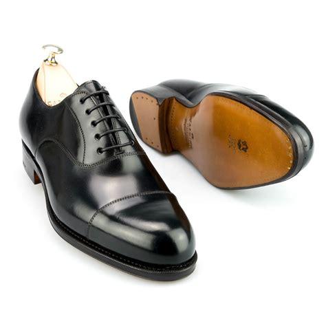 cordovan oxford shoes cap toe oxford in black cordovan carmina