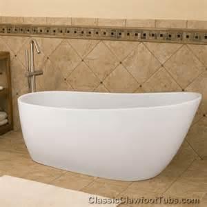 68 quot acrylic free standing slipper tub classic clawfoot tub