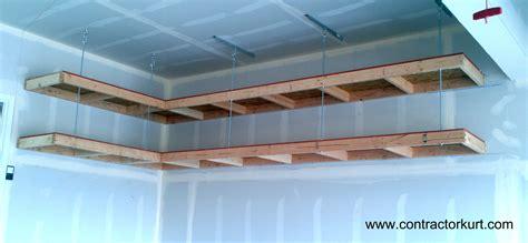 Overhead Garage Storage Overhead Garage Shelves Contractor Kurt