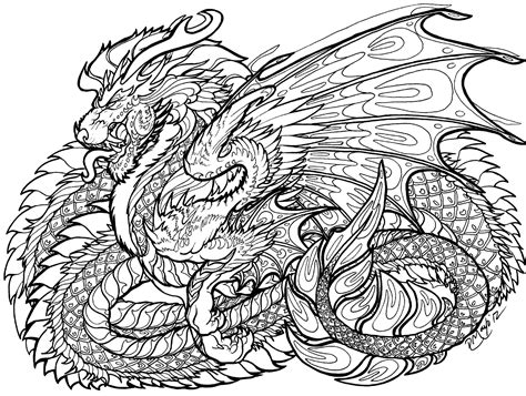 hard dragon coloring pages for adults de rachelm5 drawing dragons pinterest colorear