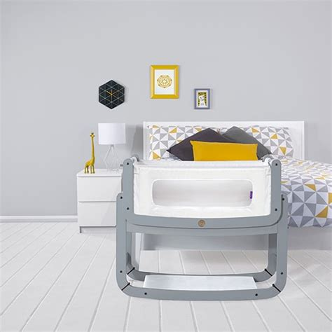 Snuzpod2 Bedside Crib 3 In 1 Dove Grey The Little Bed Side Crib
