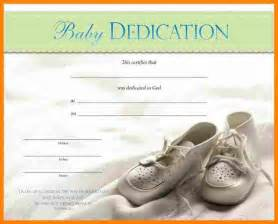 5 printable baby dedication certificate job resumed