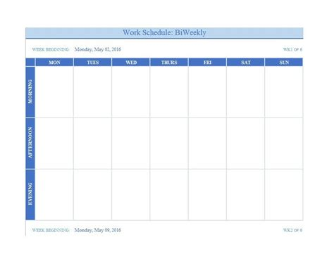 weekly schedule template 9 free word excel pdf format