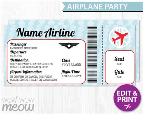 airplane ticket template airline ticket invitation template orderecigsjuice info
