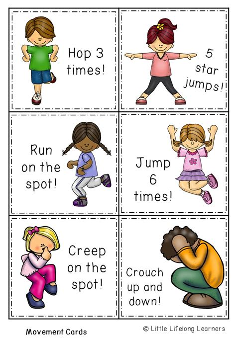 printable alphabet movement cards science packet movement and me the alphabet tree