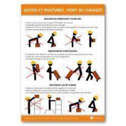 affichage gestes et postures port de charges achat