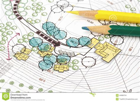 Small Pool House Designs landscape architect design analysis plan stock photo