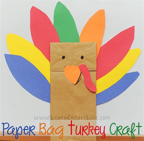Paper Thanksgiving Crafts - paper bag turkey craft
