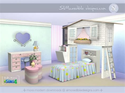 furniture by simcredible custom content the sims resource dolls house by simcredible sims 4