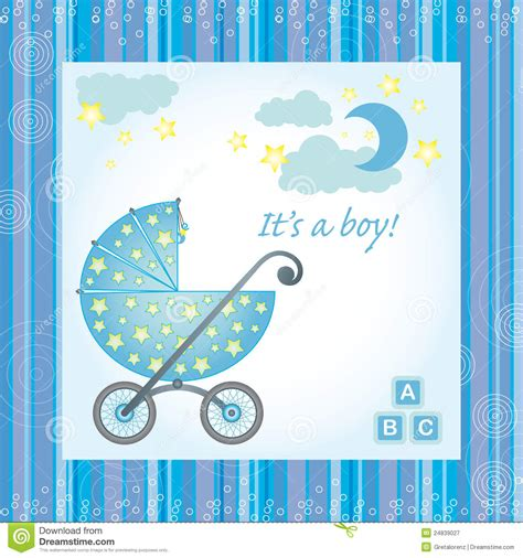 baby born card template baby boy birth card stock vector illustration of