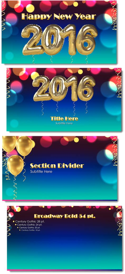 new year powerpoint template 2016 happy new year 2016 powerpoint template the powerpoint