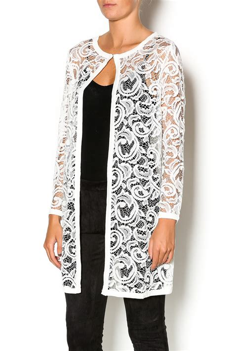 Lace Cardigan baciano soft white lace cardigan from kansas by armar
