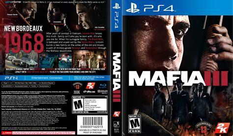 Ps4 Mafia Iii 3 mafia 3 dvd cover 2016 usa ps4 custom