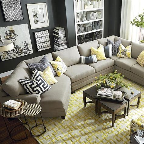12 living room ideas for a grey sectional hgtv s living room furniture arrangement with sectional sofa