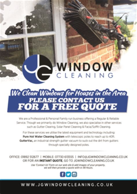 flyer design brief template window cleaning leaflet ideas abc window cleaning