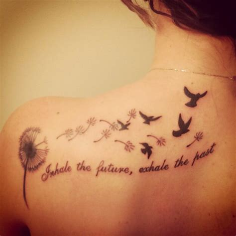 tattoo inhale love exhale hate my newest tattoo quot inhale the future exhale the past