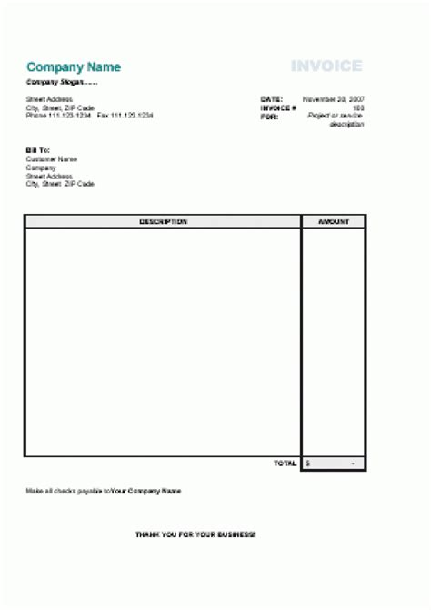 free printable invoice template uk hardhost info