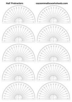 Printable Protractor Multiple   printable protractor homeschool math pinterest