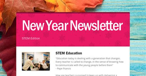 New Newsletter News by New Year Newsletter Smore Newsletters For Education