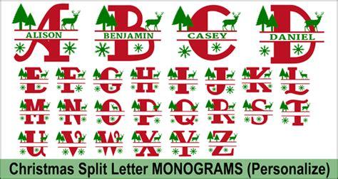 christmas clip art alphabet letters  personalize