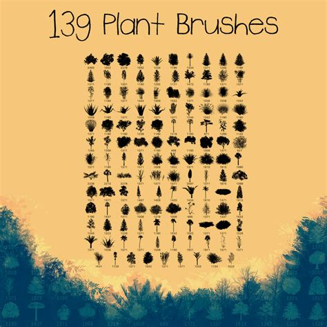 nature patterns for photoshop free download 139 plant brushes photoshop brushes