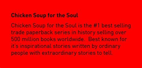 Chicken Soup For The Soul Ii chicken soup for the soul quote quote number 692096
