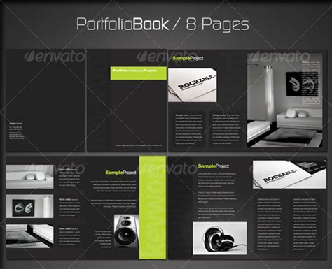 portfolio layout indesign download portfolio book 2 8 pages portfolio book template and