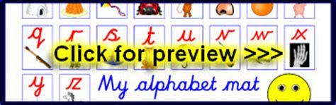 cursive alphabet mats and strips sparklebox