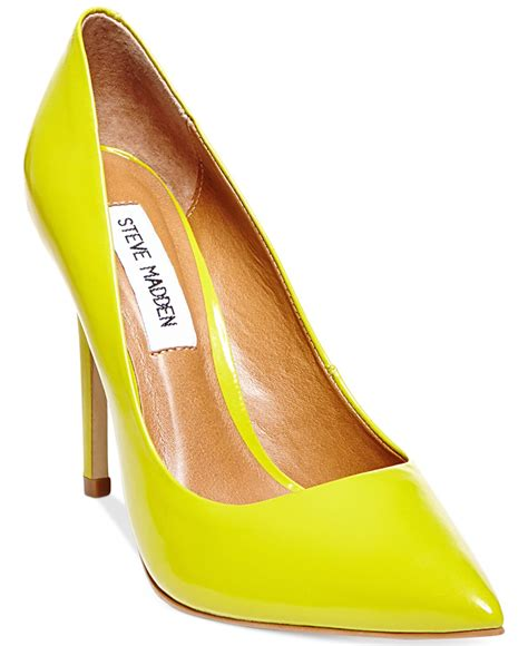 steve madden s proto pumps in yellow lyst