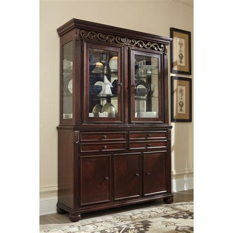 ashley furniture china cabinet signature design by ashley leahlyn traditional buffet
