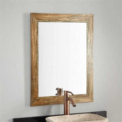 Distressed Floor Home Depot - distressed white barnwood length floor wall mirror