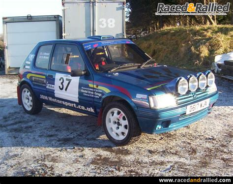 peugeot cars for sale in peugeot 205 gti rally car rally cars for sale at raced