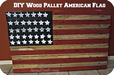 Diy How To Make An American Flag Out Of A Wood Pallet Step By Step Tutorial W Pictures Template For Pallet Flag