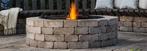 firepit kit paver brick pits weston universal pit kit