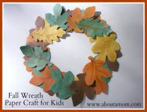 fall wreath paper craft for kids