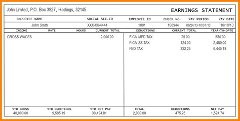 5 Self Employed Pay Stub Template Sles Of Paystubs Free Self Employed Pay Stub Template