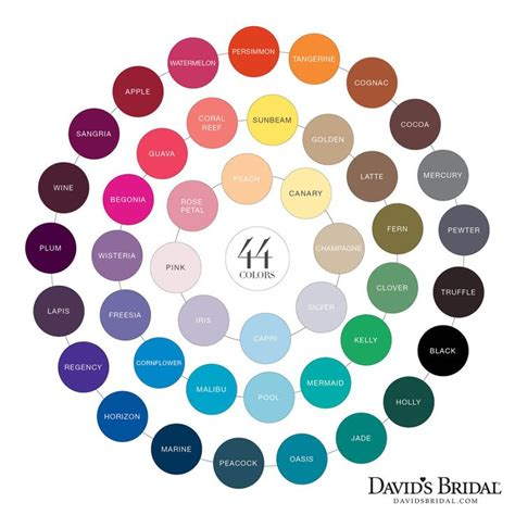 davids bridal colors david s bridal color chart color davids