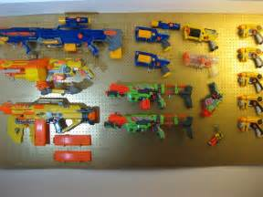 Pegboard Gun Rack by Jullian S Nerf Peg Board Gun Rack For His Collection Of