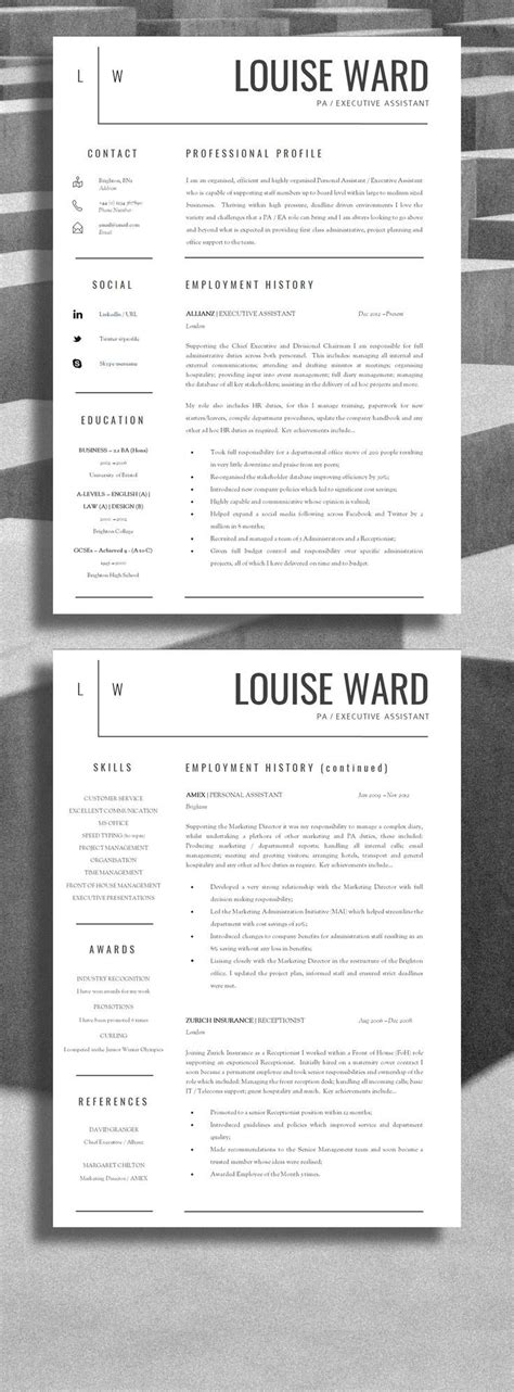Professional Resume Layout by Career Infographic Professional Resume Design
