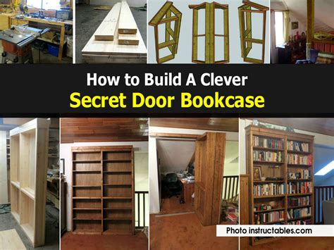 how to build secret bookcase door my web value