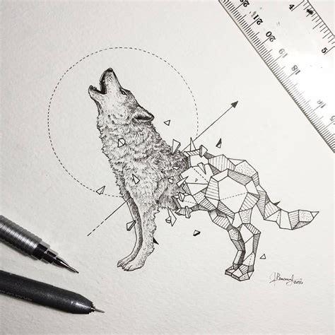 7 karya gambar pensil detil binatang liar dalam belenggu geometri satu jam
