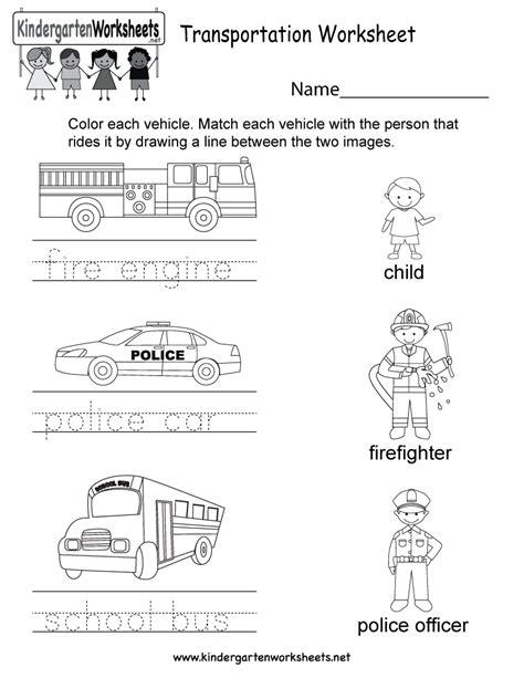 kindergarten activities social studies free printable transportation worksheet for kindergarten