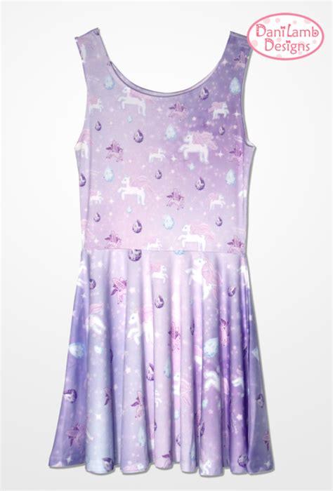 unicorn pattern dress unicorn dress pegasus pony fairy kei dress pastel galaxy