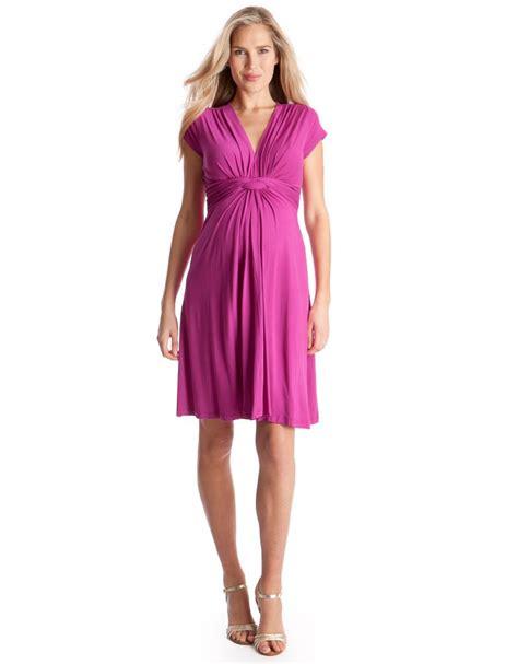 Pink Fuchsia Dress pink fuchsia knot front maternity dress seraphine