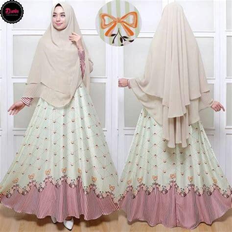 Gamis Nada Syari Hijau Gamis Murah Gamis Cantik gamis syar i maxmara c007 baju muslim cantik terbaru