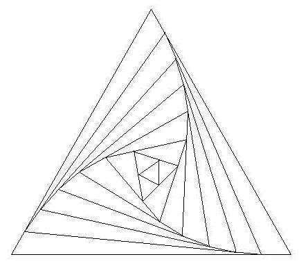 Paper Folding Triangle - iris folding triangle template a way to make